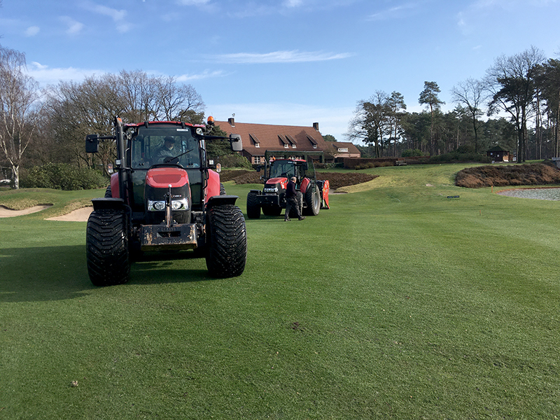 Fairways verlucht met grote vertidrain - Royal Limburg Golf