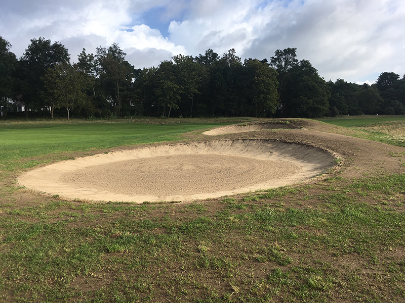 Bunkers en omgeving Royal Zoute Golf te Knokke